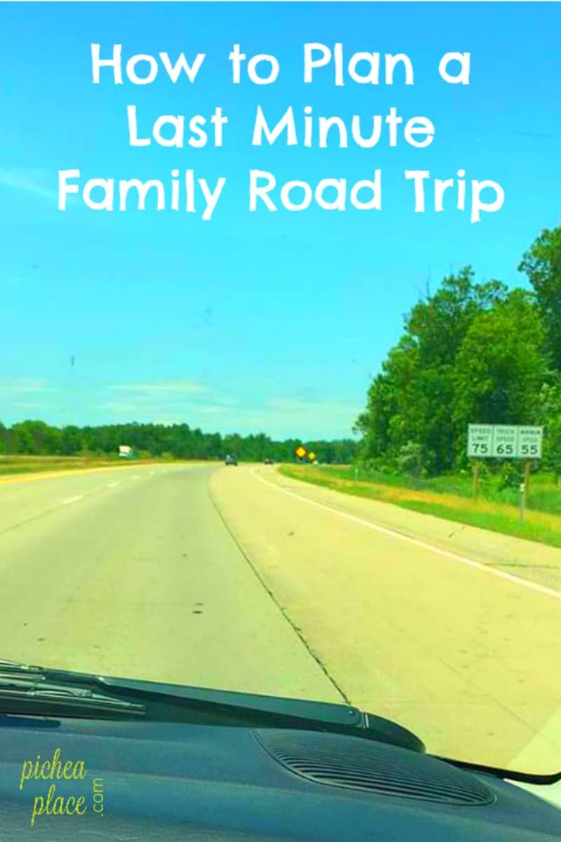 How to Plan a Last Minute Family Road Trip