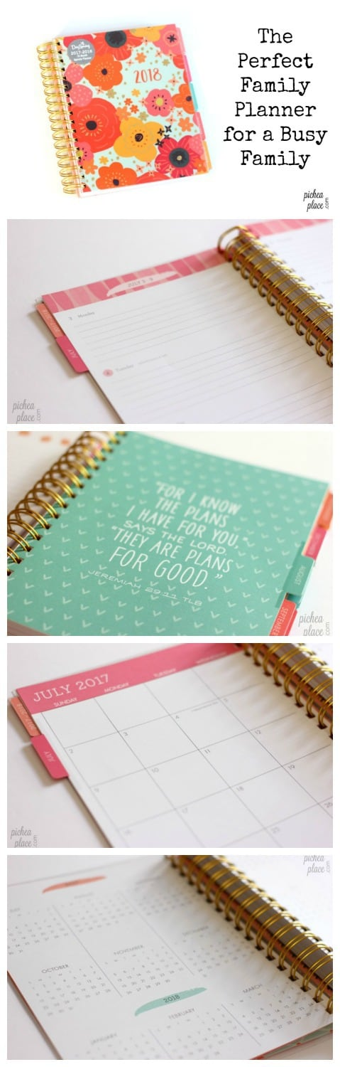 The Perfect Family Planner for a Busy Family... an 18-month agenda planner from DaySpring