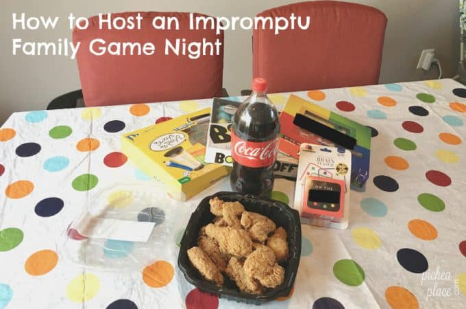 How to Host an Impromptu Family Game Night