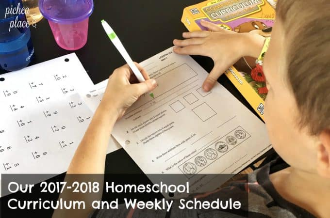 Our 2017-2018 Homeschool Curriculum and Schedule