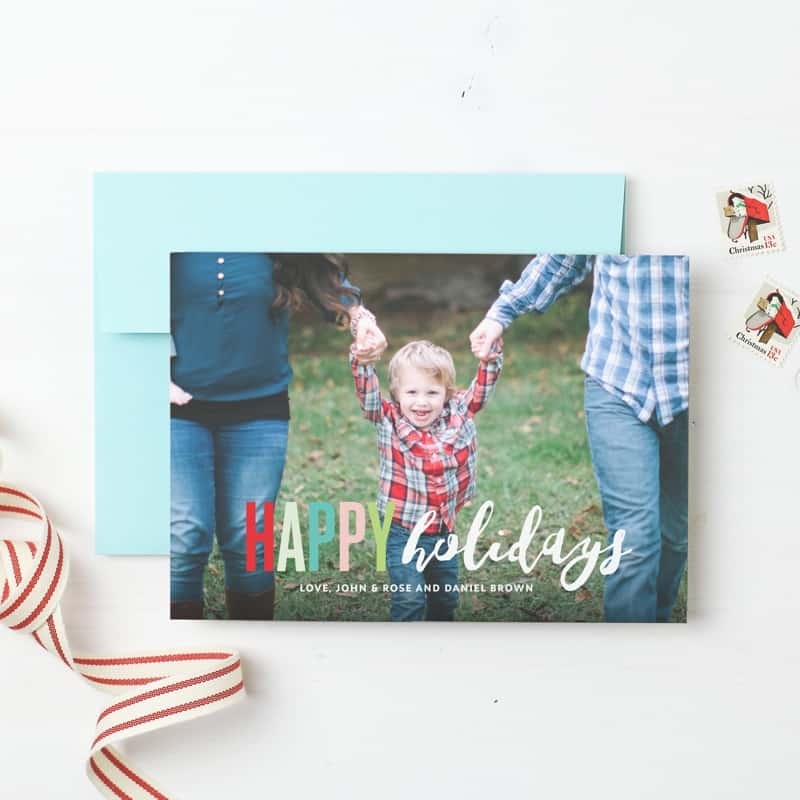 Easy and Unique Family Christmas Photo Cards for Busy Families
