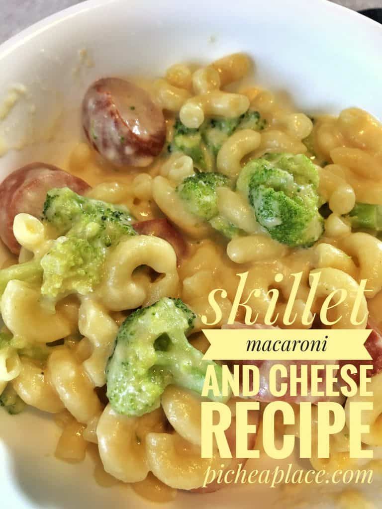 Skillet Macaroni and Cheese Recipe - easy recipe for busy families