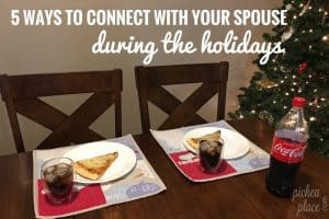 Don't let the busyness of the season be your excuse for neglecting your marriage. Here are 5 ways to connect with your spouse during the holidays...
