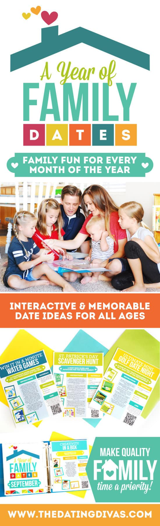 Taking time to be together as a family is so important. The Year of Family Date Night Activity Binder is perfect for busy families wanting to connect!