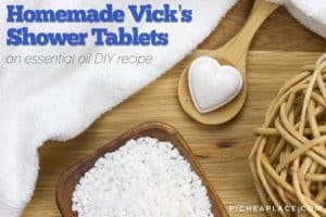 Homemade Vicks Shower Tablets - essential oil DIY recipe
