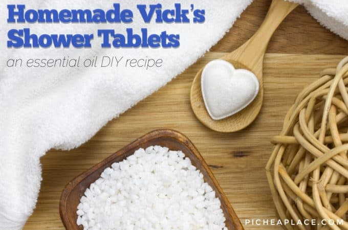 Essential Oil DIY Recipe: Homemade Vicks Shower Tablets