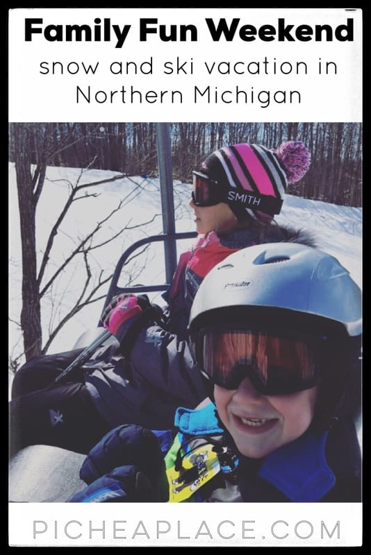 Getting away from the every day routine is important for busy families wanting to connect. We recently enjoyed a last minute family fun weekend in Northern Michigan, skiing and playing in the snow. It was a perfect mini family vacation that allowed us to disconnect from the world and connect as a family.