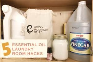 The laundry room is a great place to start when it comes to removing chemical scents from your home. These five easy essential oil laundry room hacks can help you create a healthier home while saving you money!