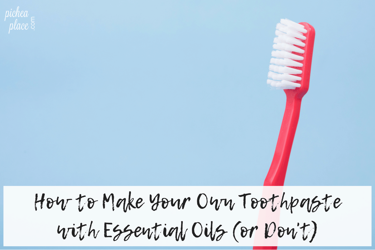 Looking for an easy recipe for a natural toothpaste with essential oils that uses ingredients you probably already have in your pantry? This homemade toothpaste recipe will take you less than five minutes to whip up! (Or don't... and order THIS.)