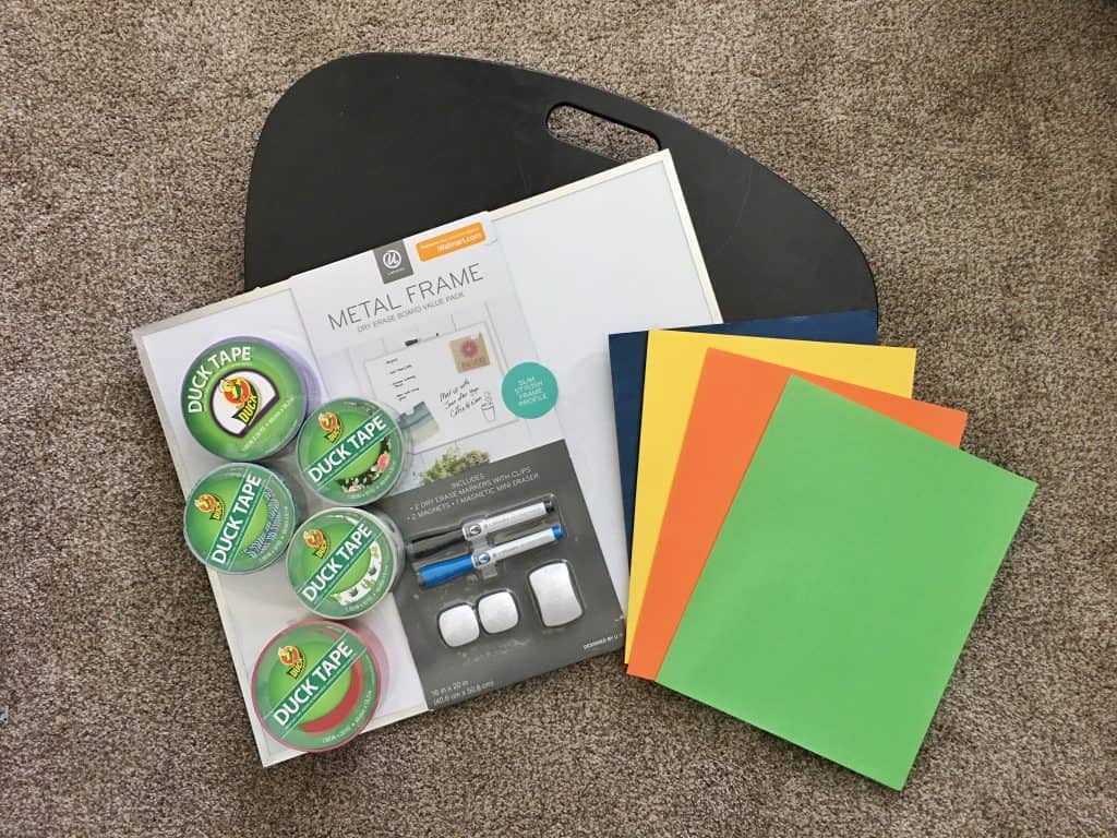 Set your student up for success with a portable DIY homework station for tweens and teens that will help them get and stay organized this school year!