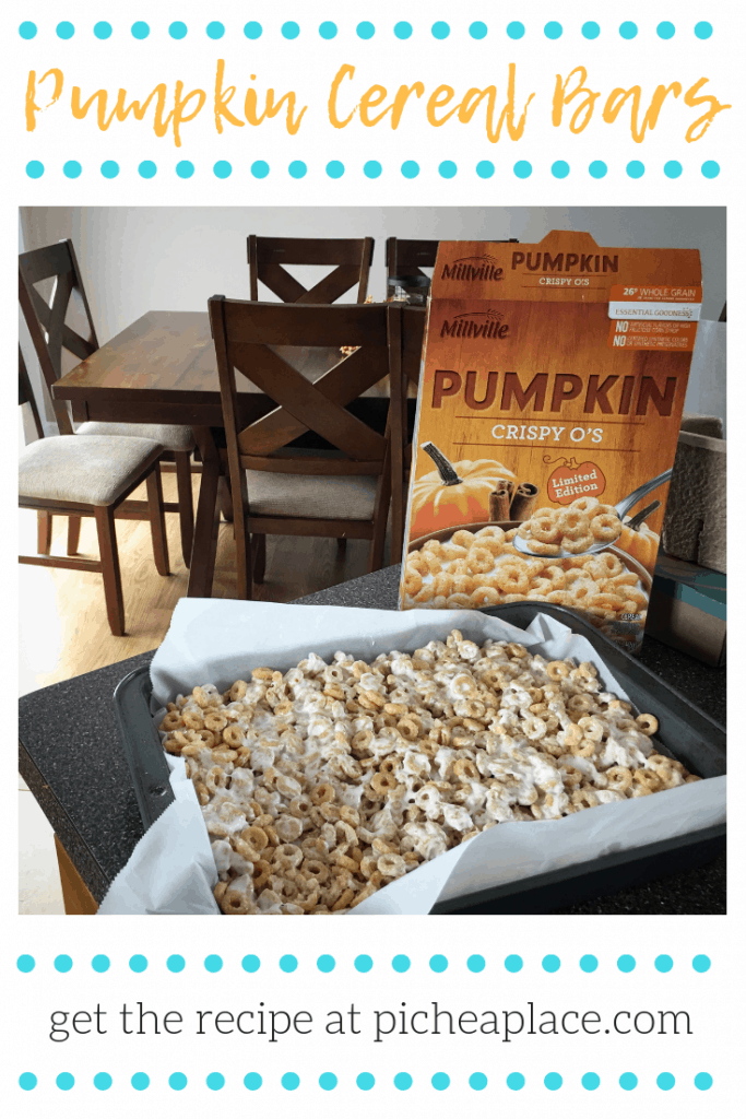 A quick and easy recipe for Pumpkin Cereal Bars - perfect for serving as an after-school snack in the fall!