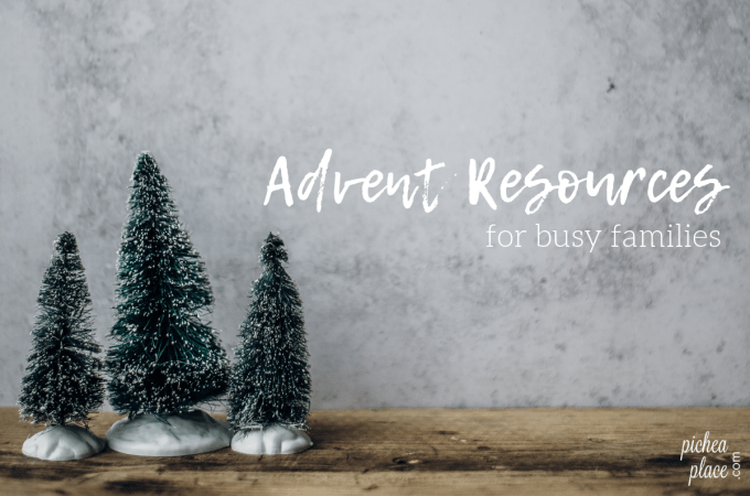 Advent Resources for Busy Families - simple ideas for helping busy families keep Christ in Christmas this holiday season