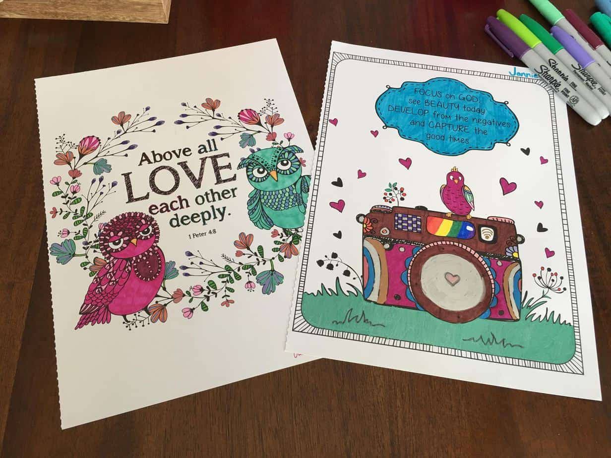 I found the inspiration for this coloring and cocoa mother-daughter date idea at Target.
