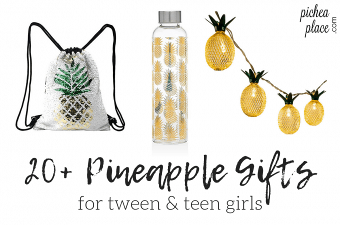 Need a gift idea for a pineapple lover in your life? Check out this list of greatpineapple gifts for tween & teen girls!